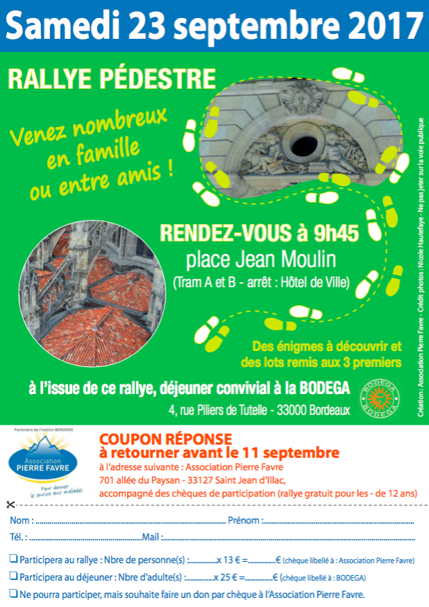 Rallye pédestre à la découverte de Bordeaux, 23 septembre 2017